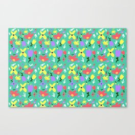 Bright Little Green Spring Handmade Pattern Canvas Print