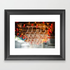 A glass or two Framed Art Print