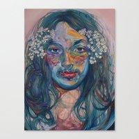 mike wrobel Canvas Prints featuring mike by Jordan Piantedosi