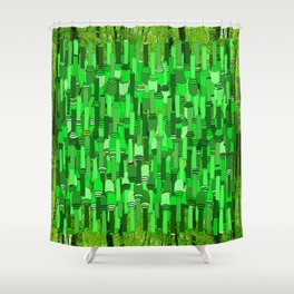 Fortified Border - Green Glow Shower Curtain