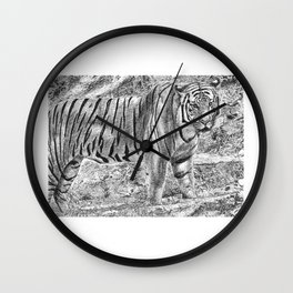 Malayan Tiger (Harimau) Wall Clock