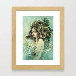 Zodiac Aquarius Framed Art Print
