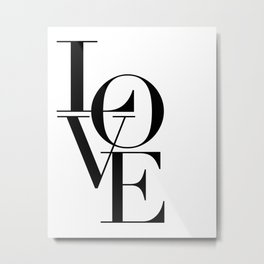 LOVE IS SWEET, Love Sign,Love Art,Wedding Decor,Anniversary Quote,Love Symbol,Love you more Metal Print