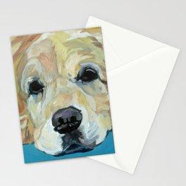 Shiner the Golden Retriever Portrait Stationery Cards
