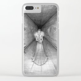 The White Lady Clear iPhone Case