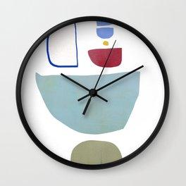 Contemporary Modern Abstract Art Shape Wall Clock