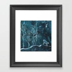 Marble Scenery Framed Art Print