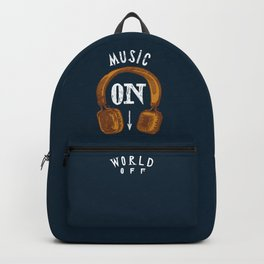 Music On - World Off Backpack