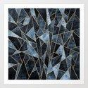 Shattered Soft Dark Blue by elisabethfredriksson
