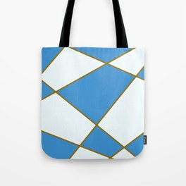 Geometric abstract - blue and brown. Tote Bag