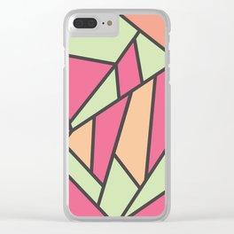Geometric Colour Pattern V5 Clear iPhone Case