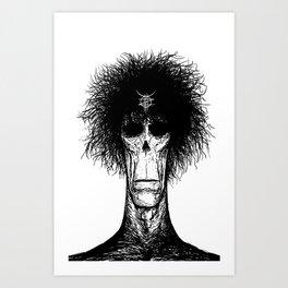 Zed Mercury: Psychopomp, portrait Art Print