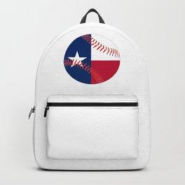 Texas Flag Baseball Backpack