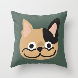 Smile Frenchie Throw Pillow