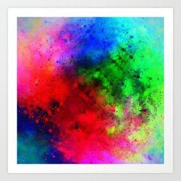 Explosive colors Art Print