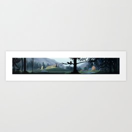 Viking Village in the Forest Art Print