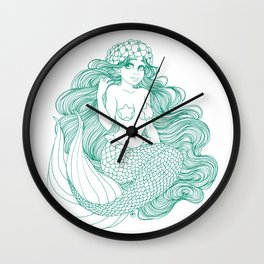 Flowers and Scales Wall Clock