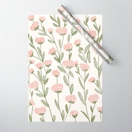 Rose Garden Pattern Wrapping Paper