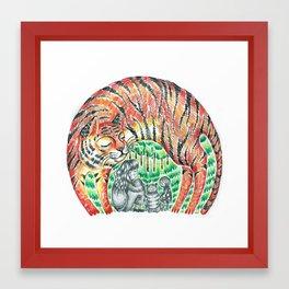 Friendly Tiger Framed Art Print