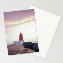(RR300) Poolbeg lighthouse in Dublin - Ireland Stationery Cards