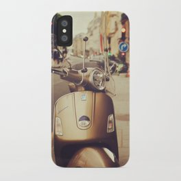 Vespa in Paris iPhone Case