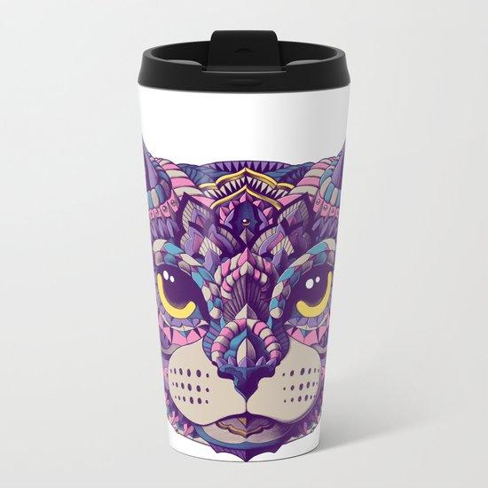 Cat Head (Color Version) Metal Travel Mug