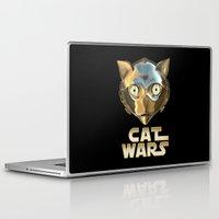 c3po Laptop & iPad Skins featuring Cat Wars C3PO by Detullio Pasquale
