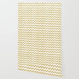 Chevron Gold And White Wallpaper