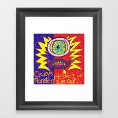 Cyclops Monster :-) Framed Art Print