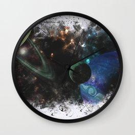 Surreal Nebula Wall Clock