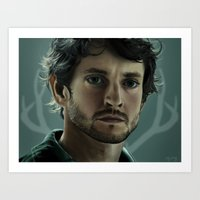will graham Art Prints featuring Will Graham by Madison Yang