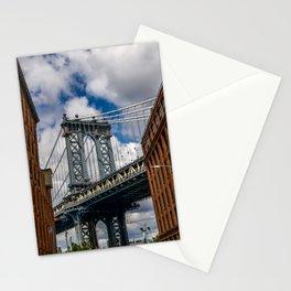 MANHATTAN BRIDGE VIEW FROM DUMBO Stationery Cards