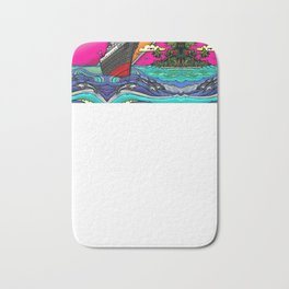 Queen Mary and Dolphins Bath Mat