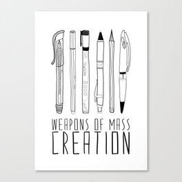 weapons of mass creation Canvas Print