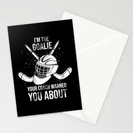 Ice Hockey Goalie Stationery Cards
