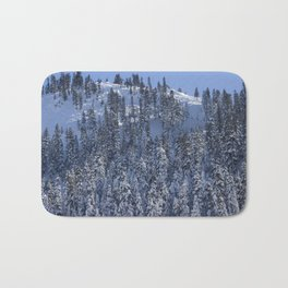 Snowy Mountain Bath Mat