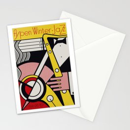 Roy Fox Lichtenstein, Aspen Winter Jazz 1967 Artwork, Men, Women, Kids, Posters, Prints, Bags, Tshir Stationery Cards
