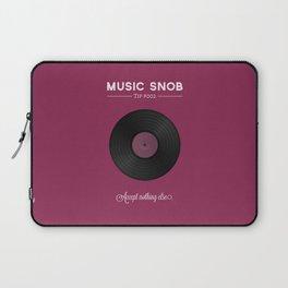 Vinyl. — Music Snob Tip #002 Laptop Sleeve