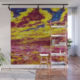 1910 Classical Masterpiece 'Autumn' Sea by Emil Nolde Wall Mural