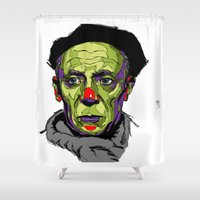 picasso Shower Curtains featuring P. Picasso by philip painter