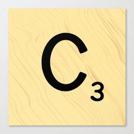 Scrabble C Decor, Scrabble Art, Large Scrabble Prints, Word Art, Accessories, Apparel, Home Decor Canvas Print