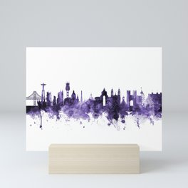 Lisbon Portugal Skyline Mini Art Print