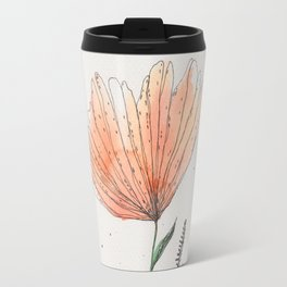 flor naranja Travel Mug