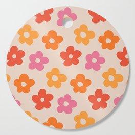 Retro 60s 70s Flowers Pattern #pattern #vintage Cutting Board