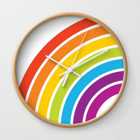 A Rainbow World Wall Clock