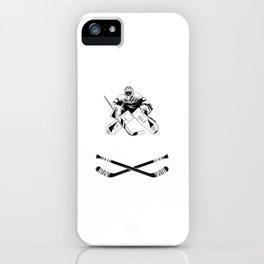 Ice Hockey Goalie Goalkeeper Team Goalkeeper iPhone Case