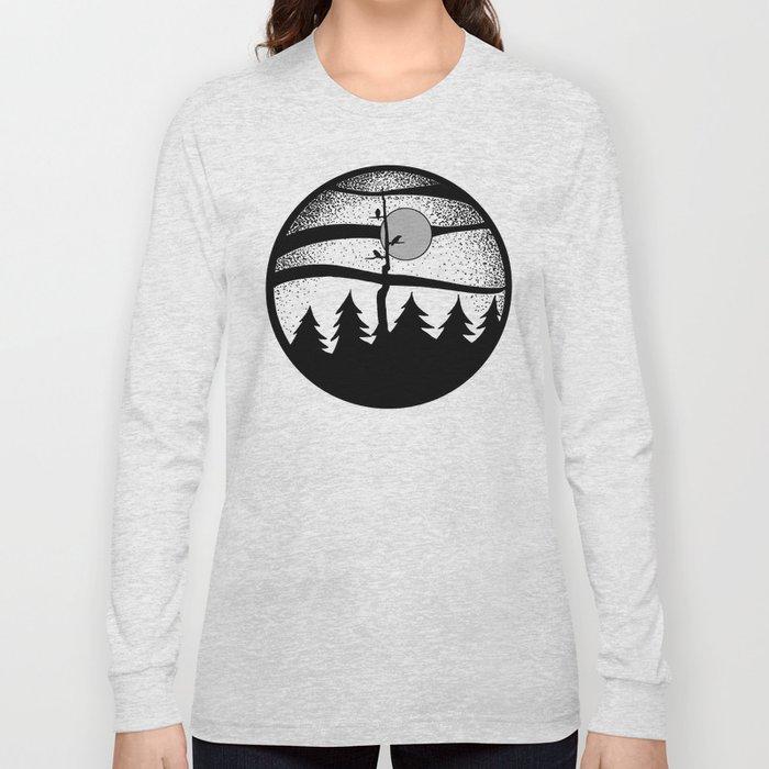 Raven Tree Monochrome Long Sleeve T-shirt