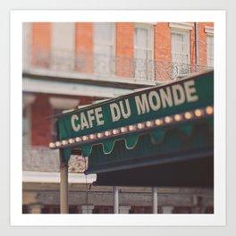 Cafe Du Monde. Coffee and Beignets Art Print
