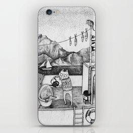 Fox on Fishing-boat iPhone Skin