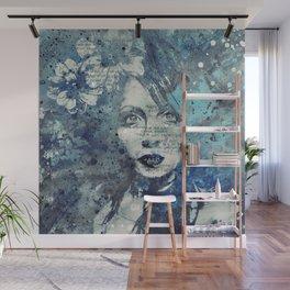Farewell, Mona Lisa: Winter (graffiti flower girl) Wall Mural